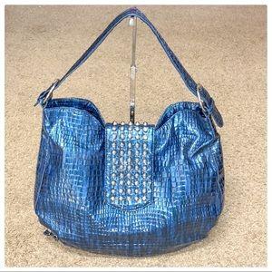 💕NWOT Blue WHBM Shoulder Bag With Studs💕